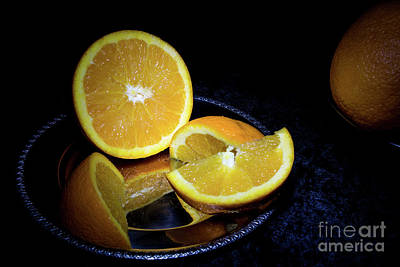 Photograph - Orange Wedges by Deborah Klubertanz