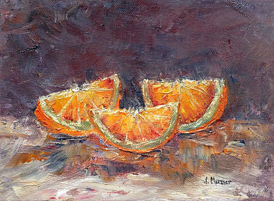 Painting - Orange Wedges by Jill Musser