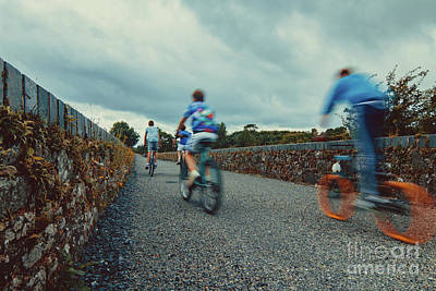 Photograph - Orange Wheels On Deise Greenway by Marc Daly
