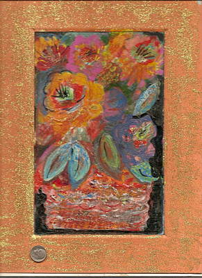 Bling Mixed Media - Orange With Attitude by Anne-Elizabeth Whiteway