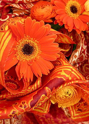 Orange Wrappings Art Print