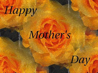 Digital Art - Orange You Lovely Mothers Day by Tim Allen