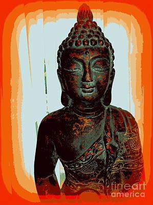 Digital Art - Orange Zen by Ed Weidman