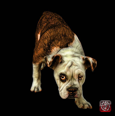 Painting - Orangeenglish Bulldog Dog Art - 1368 - Bb by James Ahn
