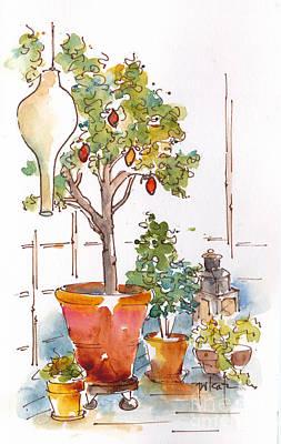 Painting - Orangerie Babette Copenhagen by Pat Katz