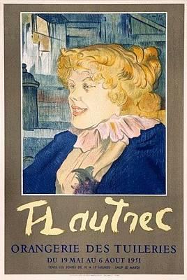 Mourlot Painting - Orangerie Des Tuileries by Toulouse Lautrec