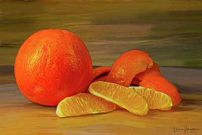 Painting - Oranges 01 by Wally Hampton