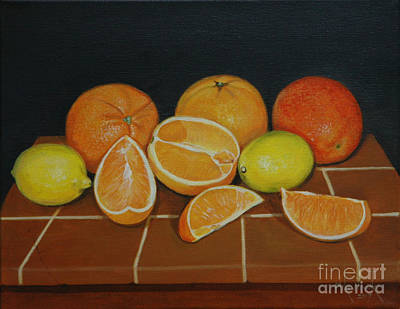 Painting - oranges and Lemons by Michael Nowak
