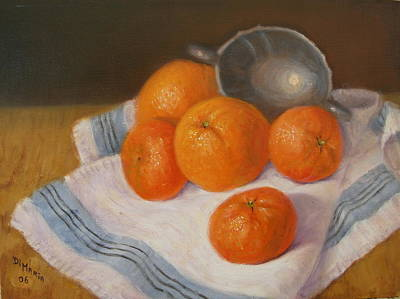 Oranges And Tangerines Art Print by Donelli  DiMaria