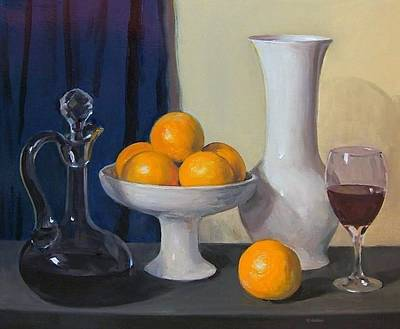 Painting - Oranges And Wine by Robert Holden