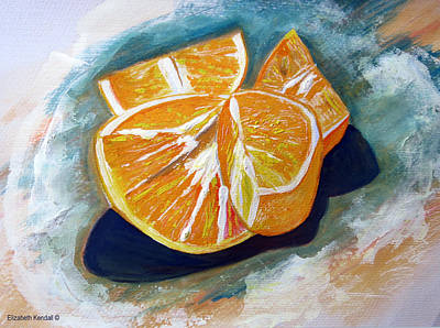 Painting - Oranges by Elizabeth Kendall