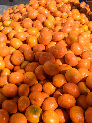 Oranges For Sale In Market, Essaouira Art Print by Panoramic Images