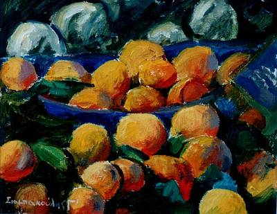 Oranges Art Print by George Siaba