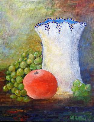 Painting - Orange Grapes And More by Annie St Martin