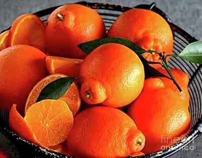 Oranges In Basket Art Print by Marta Robin Gaughen
