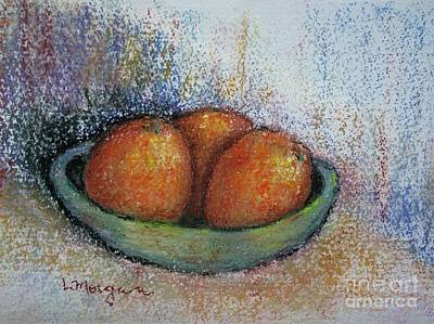 Painting - Oranges In Celadon Bowl by Laurie Morgan