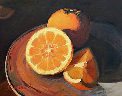 Painting - Oranges In Late Afternoon Sunlight by Chris Rice