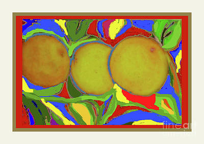 Photograph - Oranges by Shirley Moravec