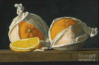 Oranges Wrapped Art Print by MotionAge Designs