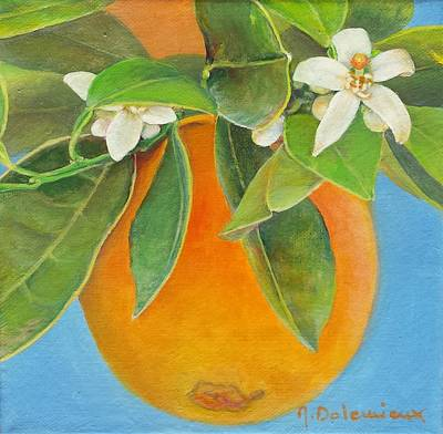 Painting - Orange Couronnee by Muriel Dolemieux