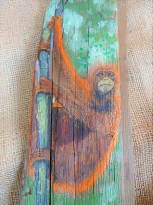 Mixed Media - Orangutan by Ann Michelle Swadener