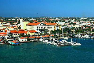 Photograph - Oranjestad Aruba Marina by Gary Wonning