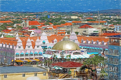 Photograph - Oranjestad In Aruba by Sue Melvin