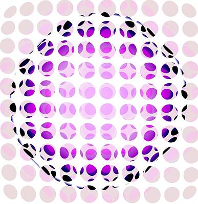 Pink And Purple Digital Art - Orb by Francois Domain
