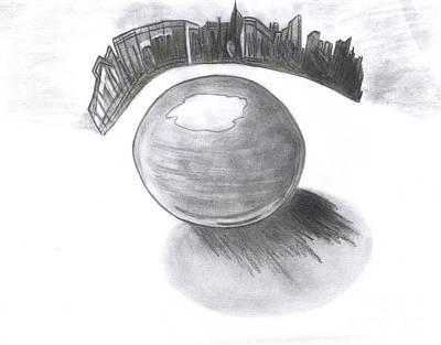Orb Landing Art Print