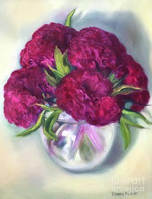 Painting - Orb Of Light And Velvet Flowers by Randy Burns