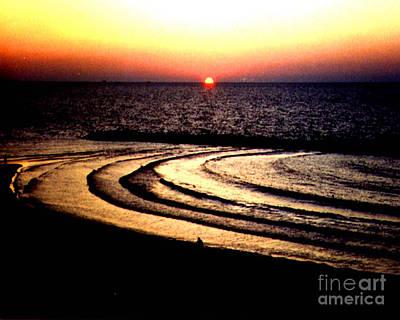Photograph - Orbital Sunset  Tel Aviv Israel by Merton Allen