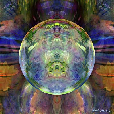 Digital Art - Orbital Symmetry by Robin Moline