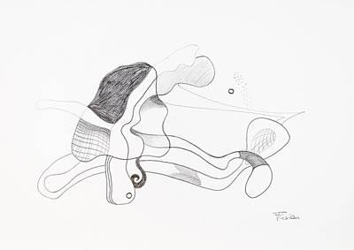 Cosmic Space Drawing - Orbiter by Peter Hermes Furian