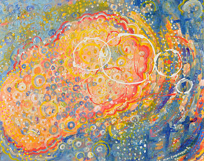 Green Beans Painting - Orbiting Metaphors Of Life by Tara Emmerson