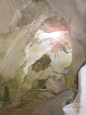 Digital Art - Orbs In Hebron Cave by Donna L Munro