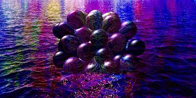 Painting - Orbs In The Water by Mark Taylor