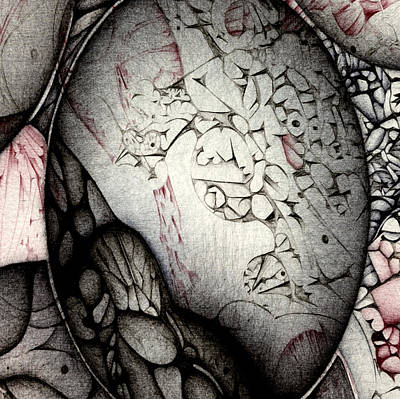 Art Print featuring the drawing Orbs Seventh Detail by Jack Dillhunt