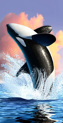 Killer Digital Art - Orca 1 by Jerry LoFaro
