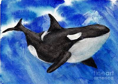 Painting - Orca Baby by Randy Sprout
