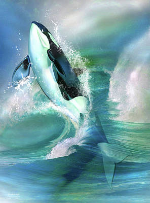 Mixed Media - Orca Breakthrough by Carol Cavalaris