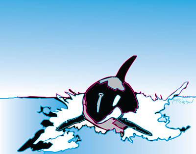 Digital Art - Orca by Dan McGibbon