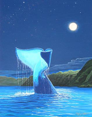 Orca Fluke Art Print by Jeffrey Oldham