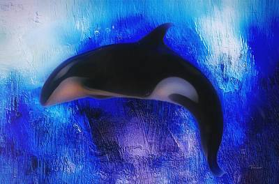 Drippy Digital Art - Orca by Mark Taylor