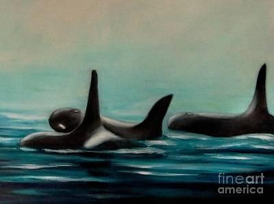 Painting - Orca's by Annemeet Hasidi- van der Leij
