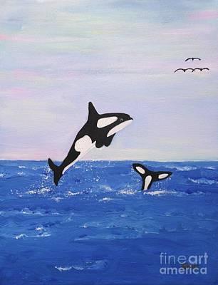 Painting - Orcas In The Morning by Karen Jane Jones