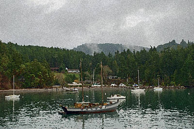 Clouds Rights Managed Images - Orcas Island Digital Enhancement Royalty-Free Image by Carol  Eliassen