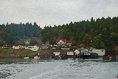 Orca Digital Art - Orcas Island Dock by Carol  Eliassen