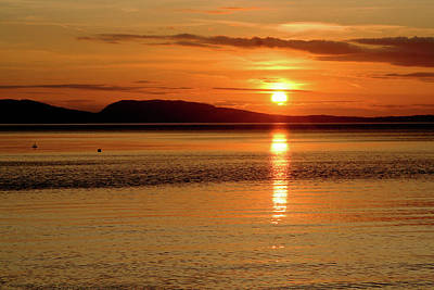 Orcas Island Photograph - Orcas Island Sunset by Art Block Collections