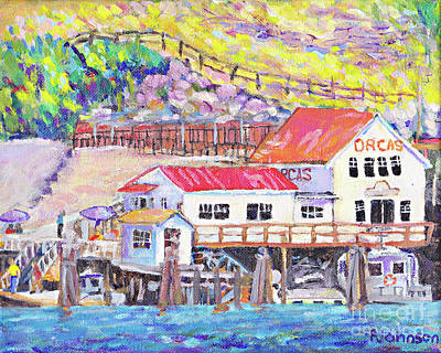 Painting - Orcas Island Welcome By Peggy Johnson by Peggy Johnson