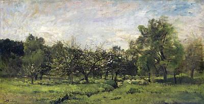 Orchard Art Print by Charles-Francois Daubigny
